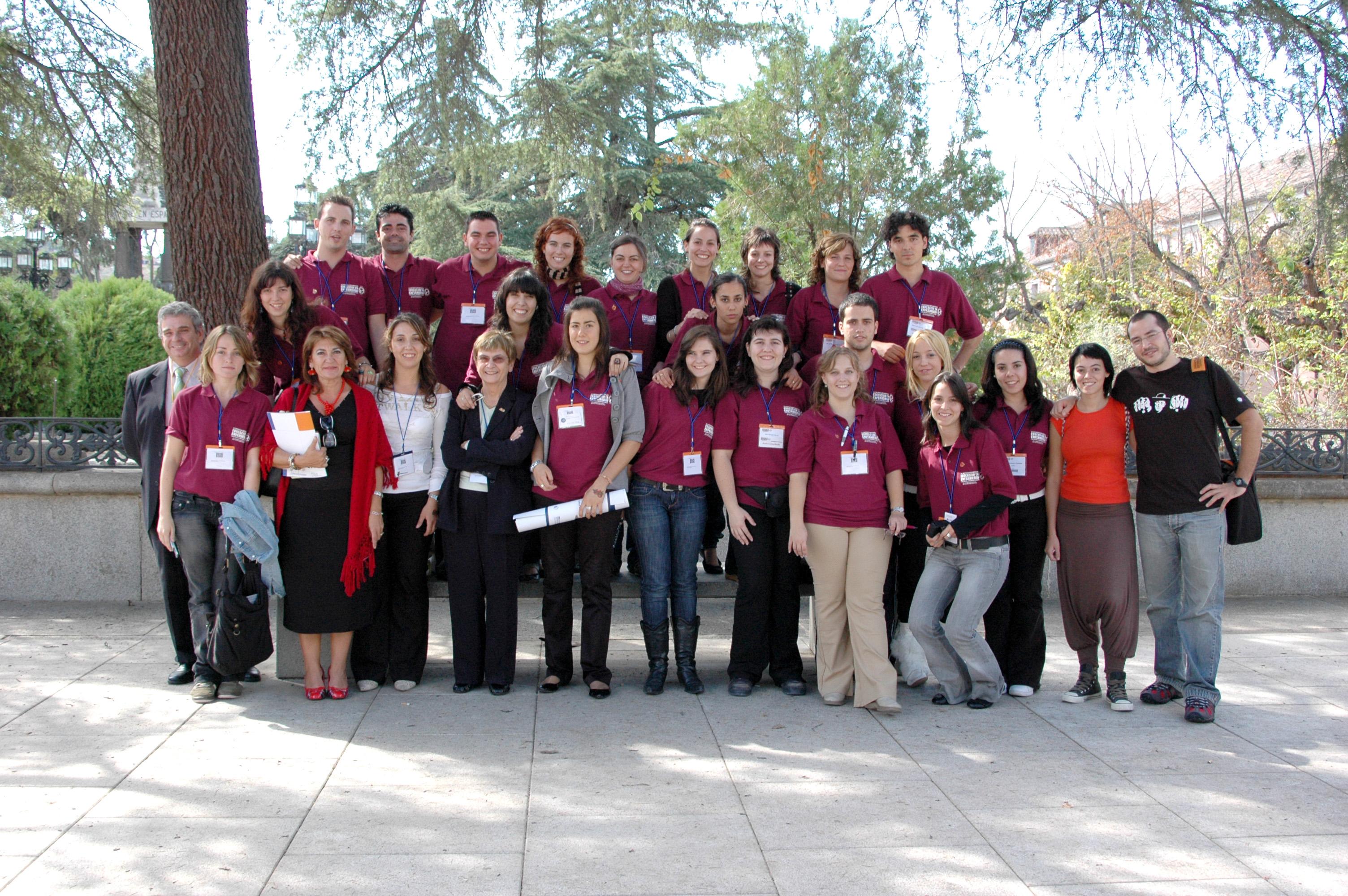 el encuentro IX Conferencia ALADEFE, estudiantes